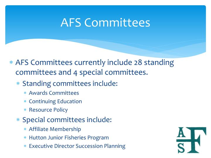 AFS Committees