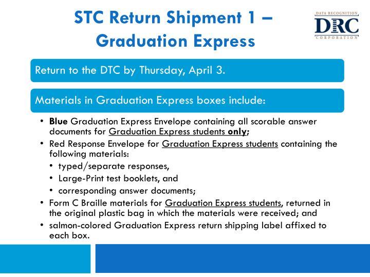 STC Return Shipment 1 –