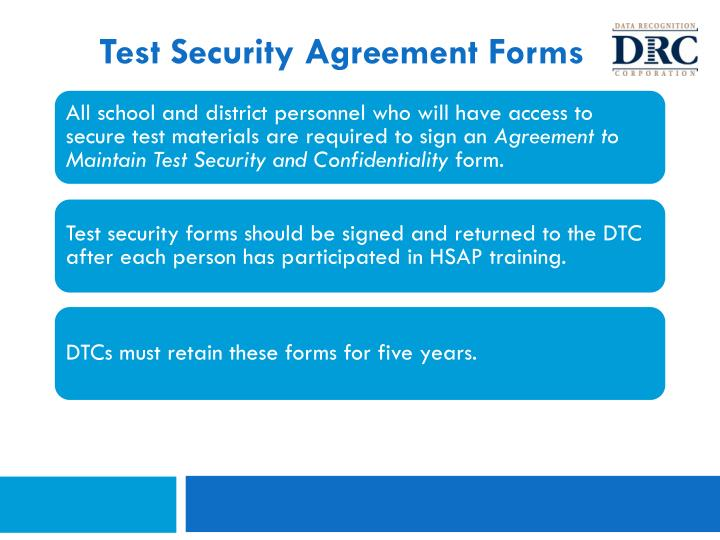 Test Security Agreement Forms