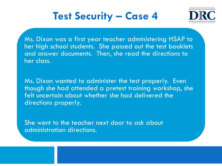 Test Security – Case 4