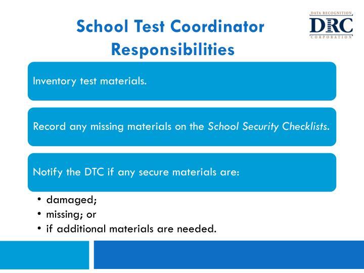 School Test Coordinator
