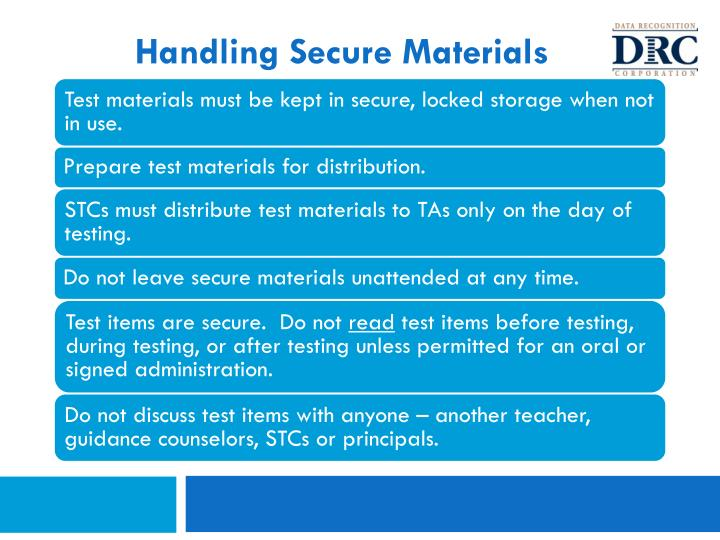 Handling Secure Materials