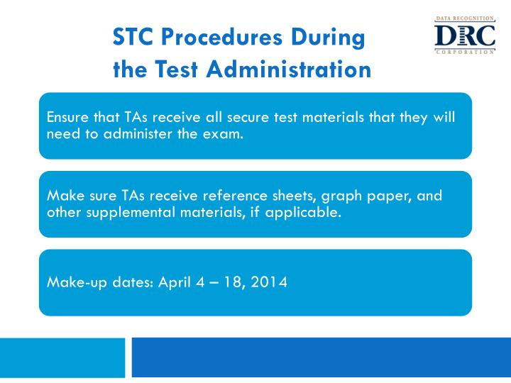 STC Procedures During
