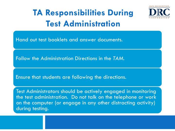 TA Responsibilities During