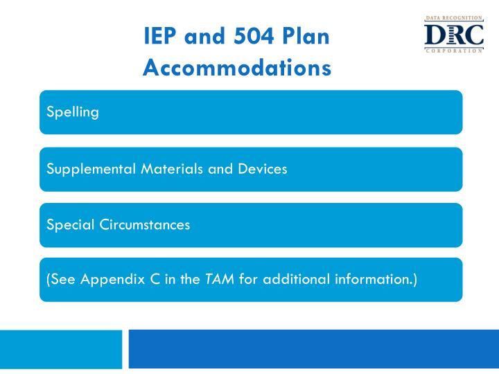 IEP and 504 Plan