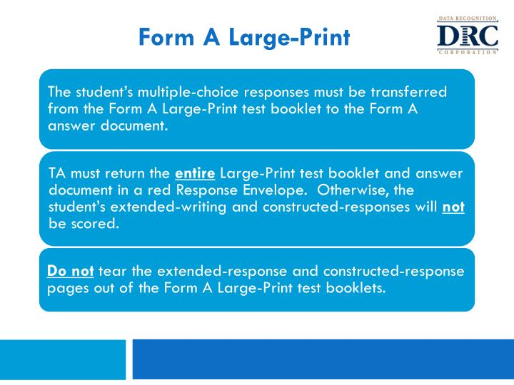 Form A Large-Print