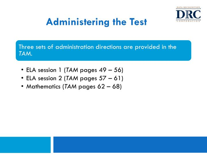 Administering the Test