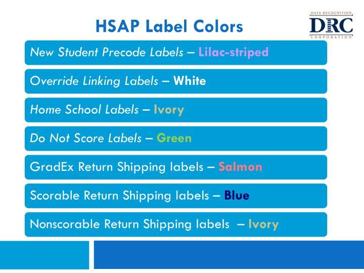 HSAP Label Colors