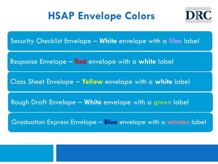 HSAP Envelope Colors