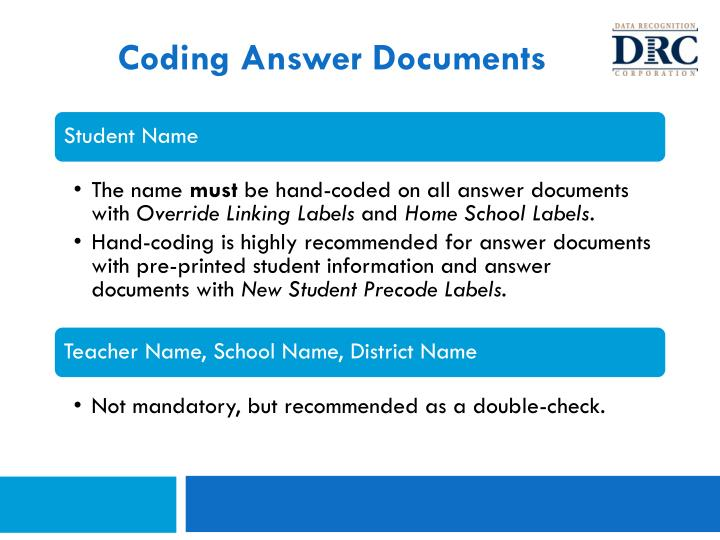 Coding Answer Documents
