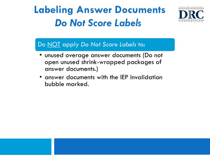 Labeling Answer Documents