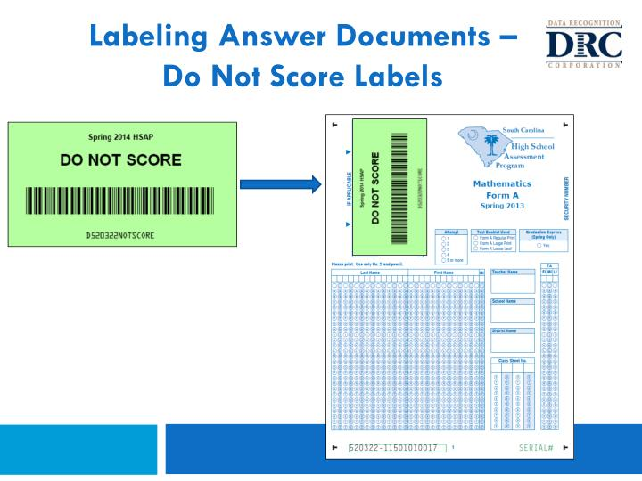 Labeling Answer Documents –