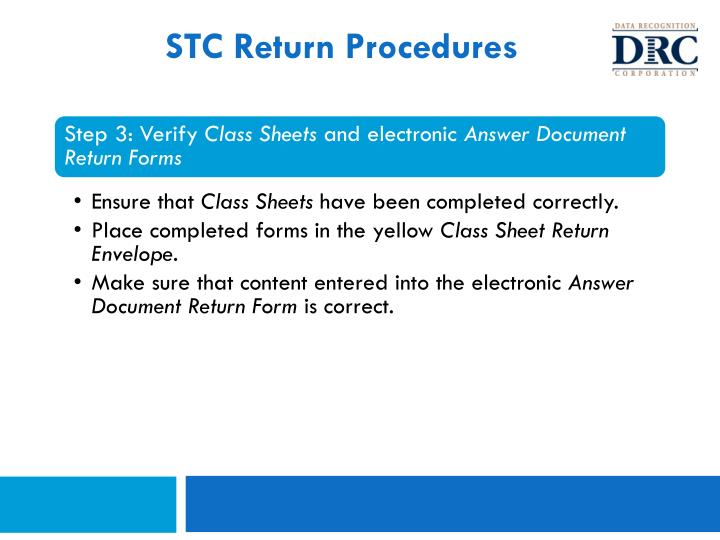 STC Return Procedures