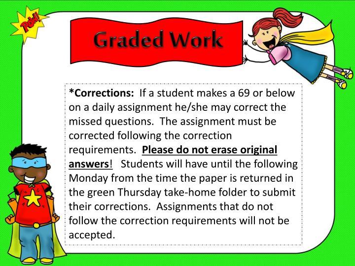 Graded Work