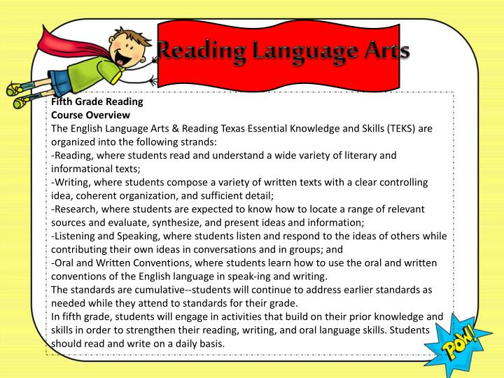 Reading Language Arts