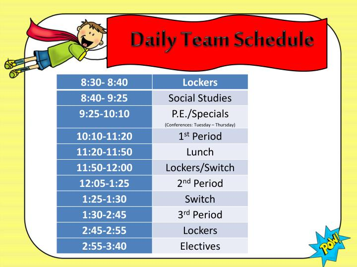 Daily Team Schedule