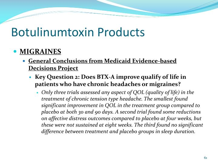 Botulinumtoxin Products