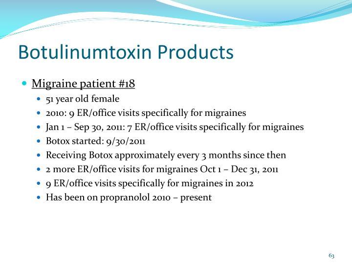 Botulinumtoxin Products