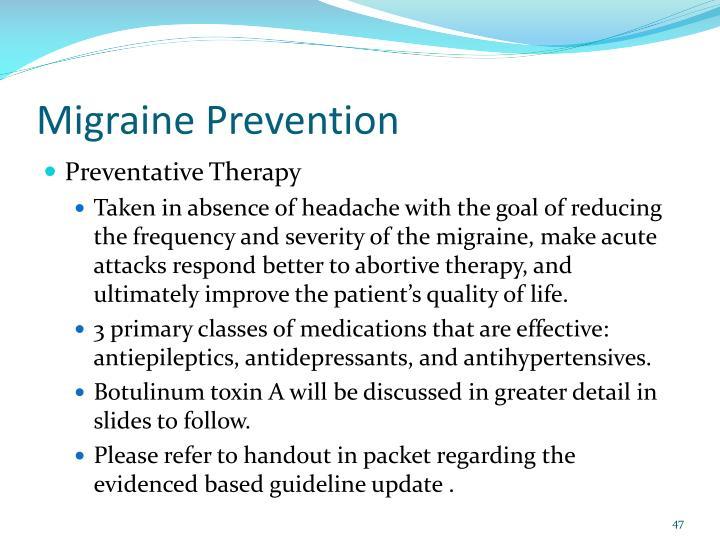 Migraine Prevention