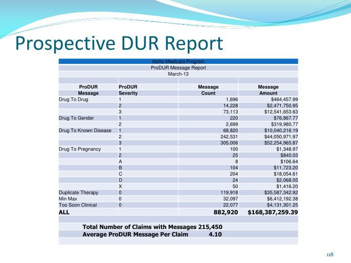 Prospective DUR Report