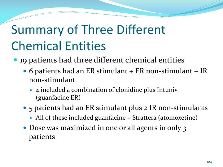 Summary of Three Different Chemical Entities