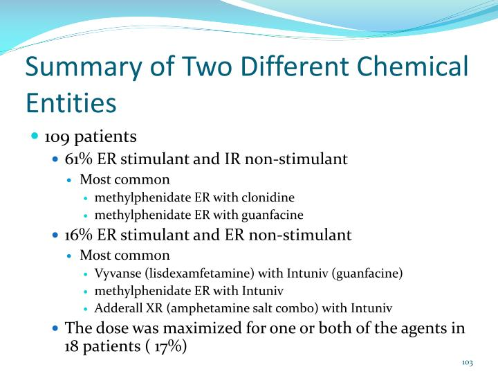 Summary of Two Different Chemical Entities