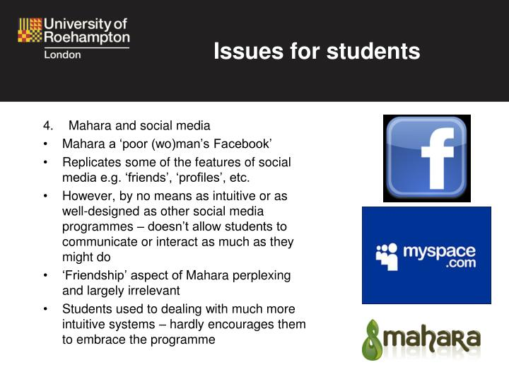 Issues for students