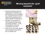 moving beyond the gold standard1