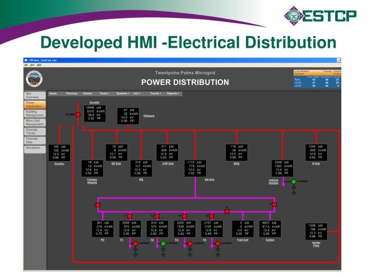 Developed HMI -Electrical