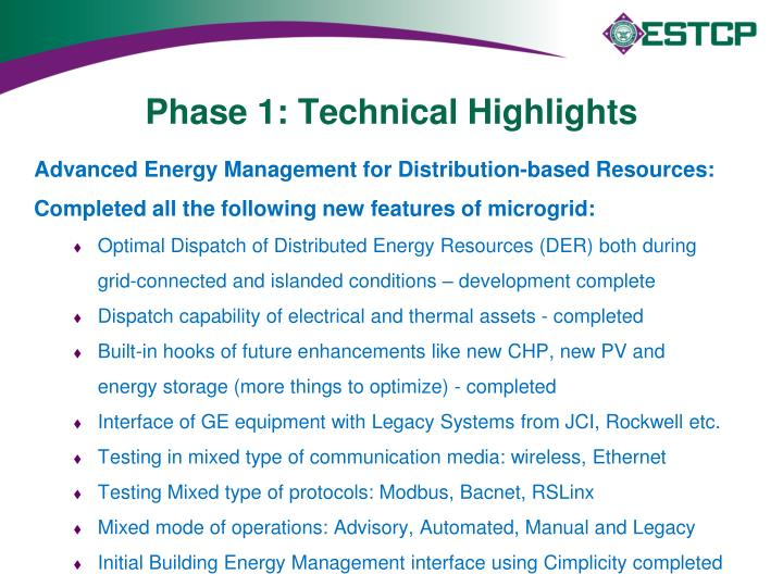 Phase 1: Technical Highlights