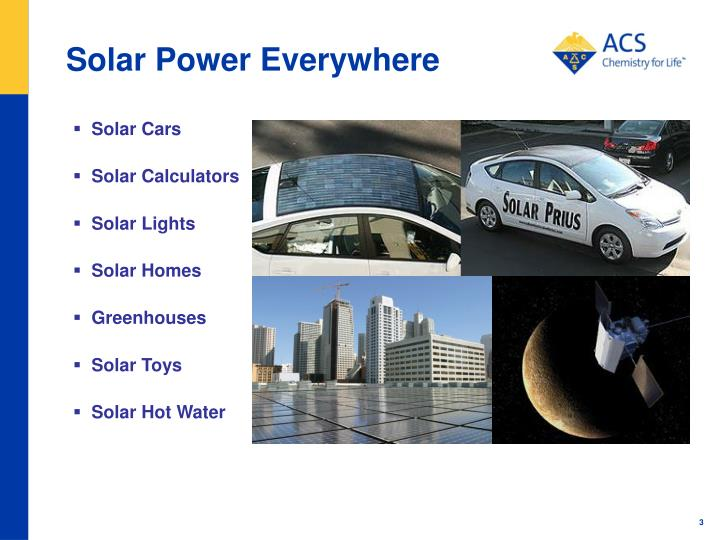 Solar power everywhere