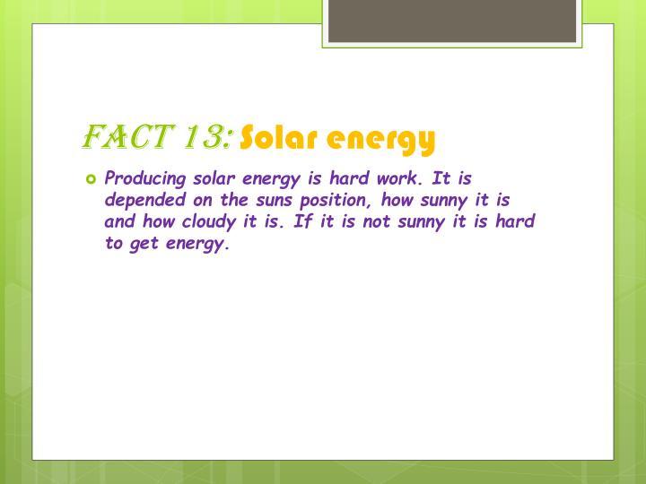 Fact 13: