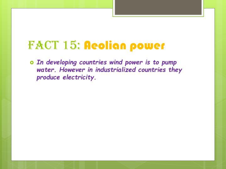 Fact 15: