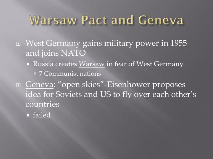 Warsaw Pact and Geneva