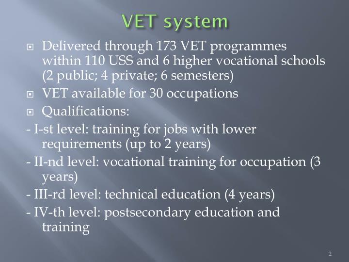 VET system