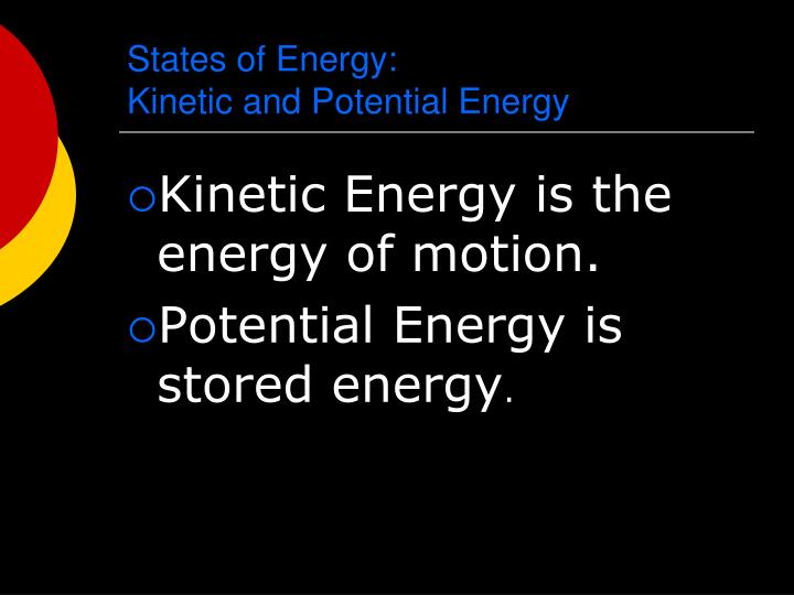 States of Energy: