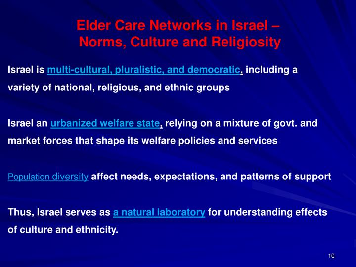 Elder Care Networks in Israel –