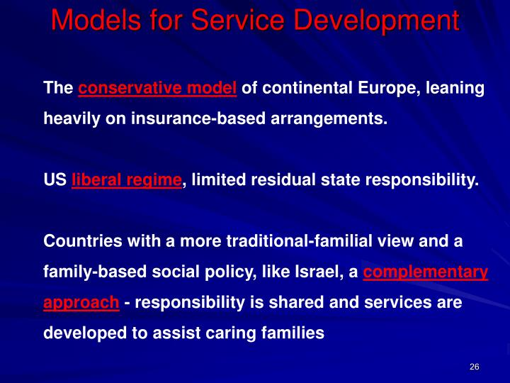 Models for Service Development