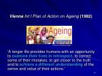 vienna int l plan of action on ageing 1982