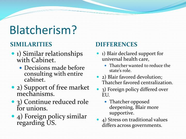 Blatcherism?