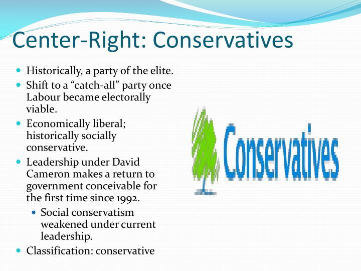 Center-Right: Conservatives