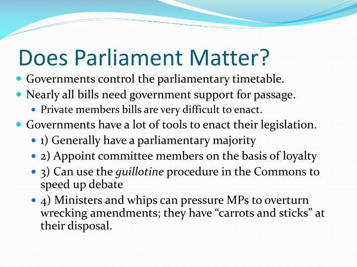 Does Parliament Matter?