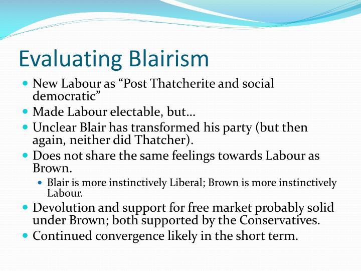 Evaluating Blairism