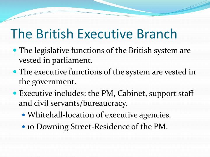 The british executive branch