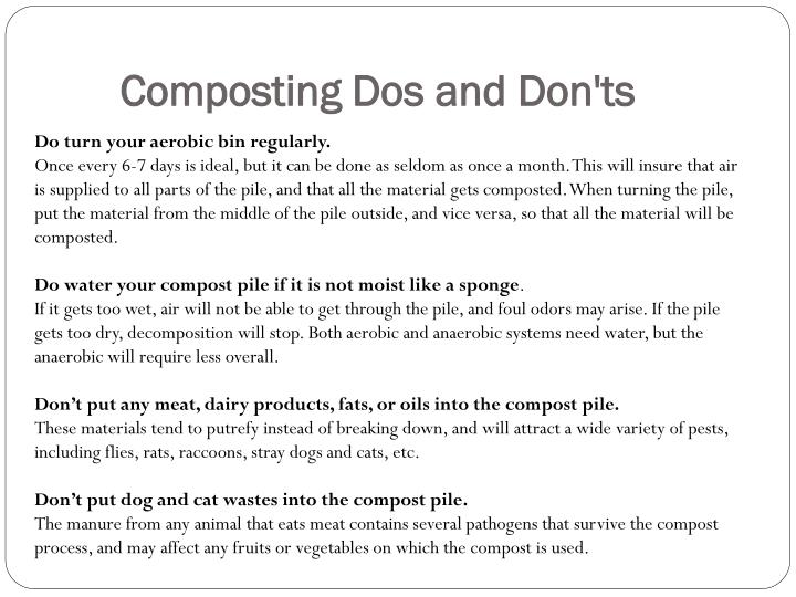 Composting Dos and Don'ts