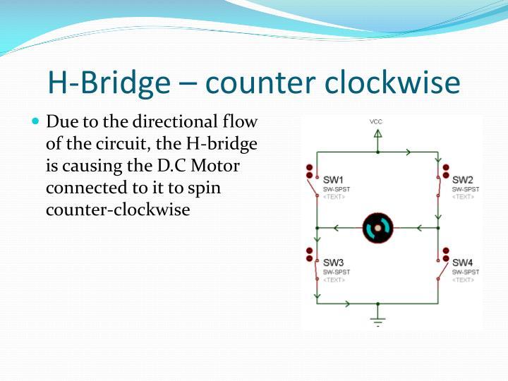 H-Bridge – counter clockwise