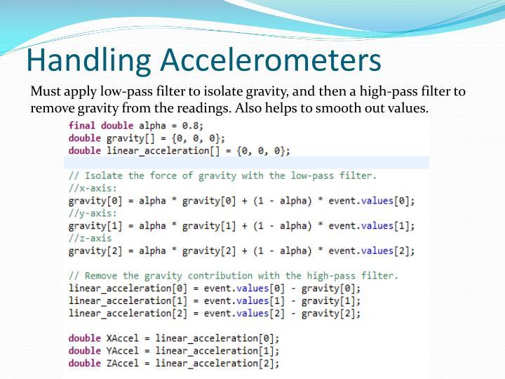 Handling Accelerometers