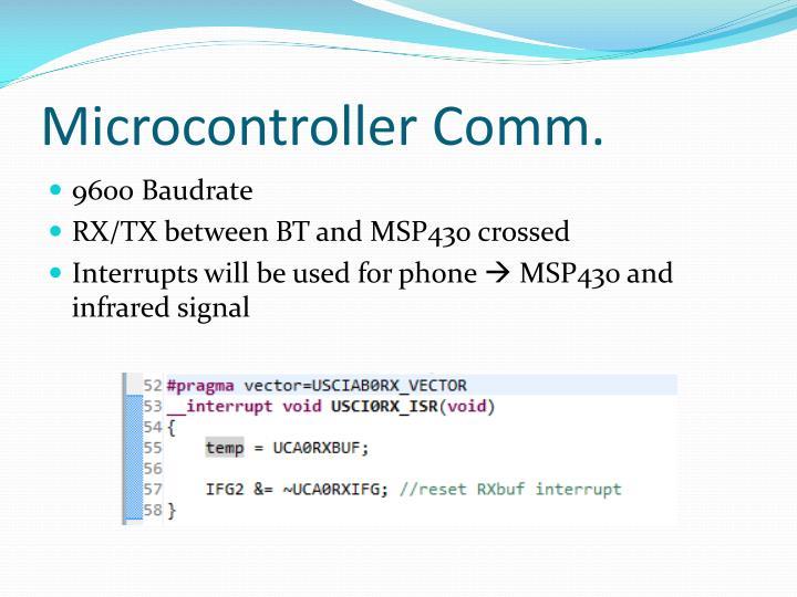 Microcontroller Comm.