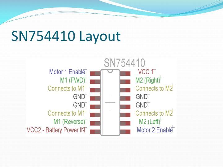SN754410 Layout
