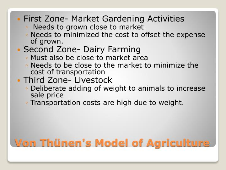 First Zone- Market Gardening Activities